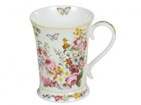Taza porcelana Bloom White