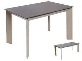 Mesa extensible marrón