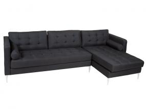 Sofá chaiselongue negro